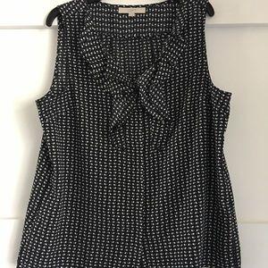 Ann Taylor Loft Black & white sleeveless blouse